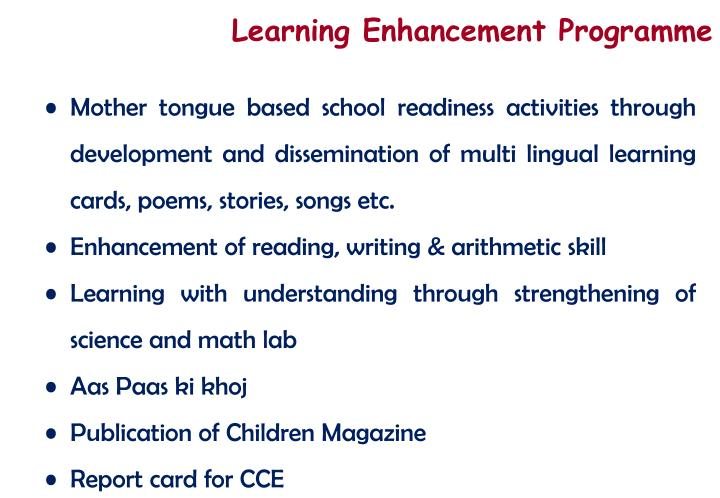 Learning Enhancement Programme
