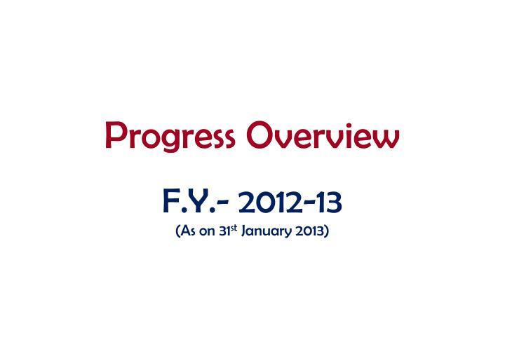 Progress Overview