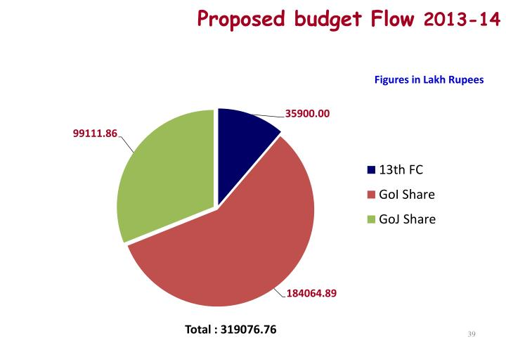 Proposed budget Flow