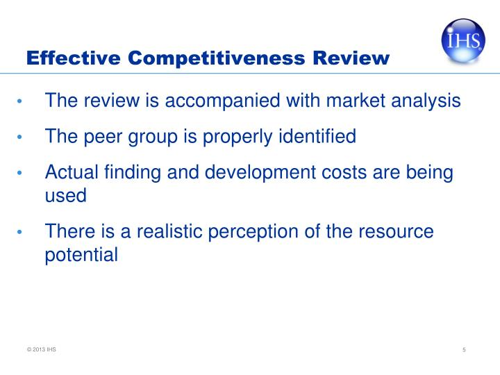 Effective Competitiveness Review