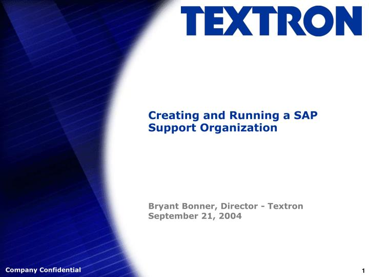 creating and running a sap support organization n.