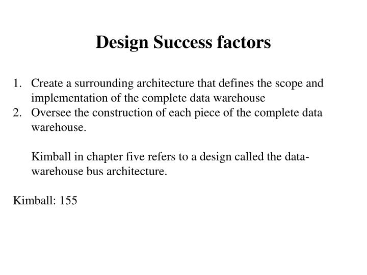 Design Success factors