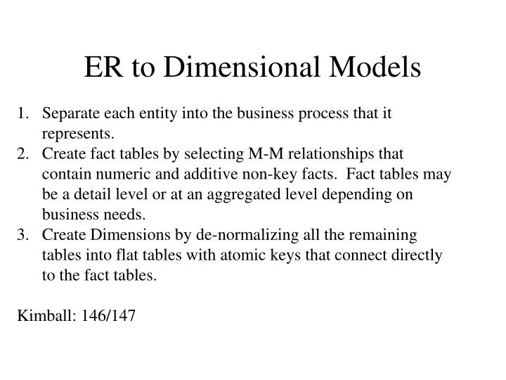 ER to Dimensional Models