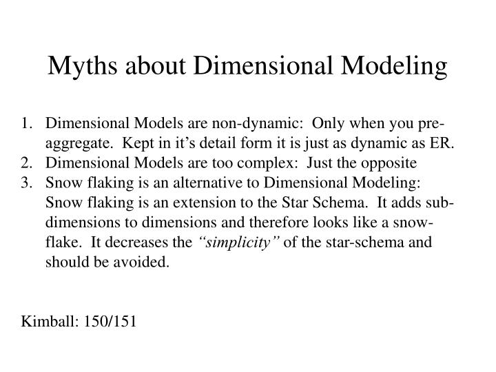 Myths about Dimensional Modeling