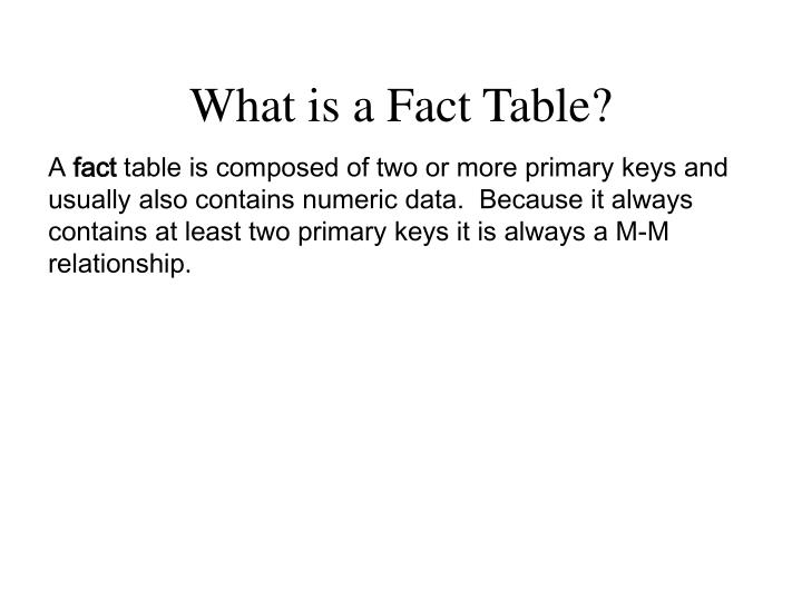 What is a Fact Table?