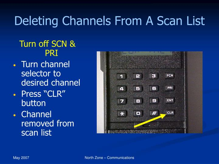 Deleting Channels From A Scan List