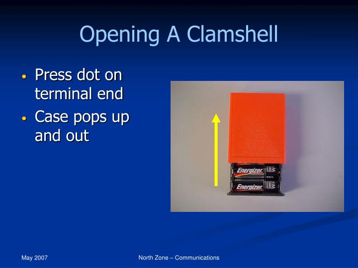 Opening A Clamshell