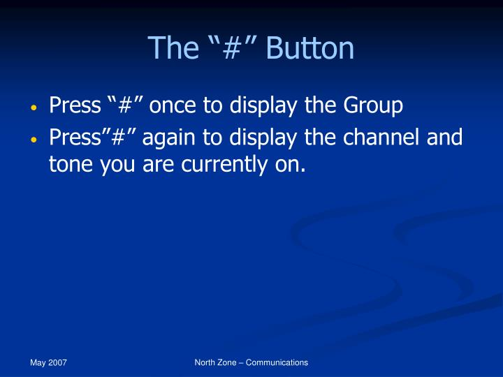 """The """"#"""" Button"""