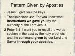 pattern given by apostles