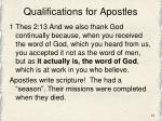 qualifications for apostles1