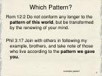 which pattern