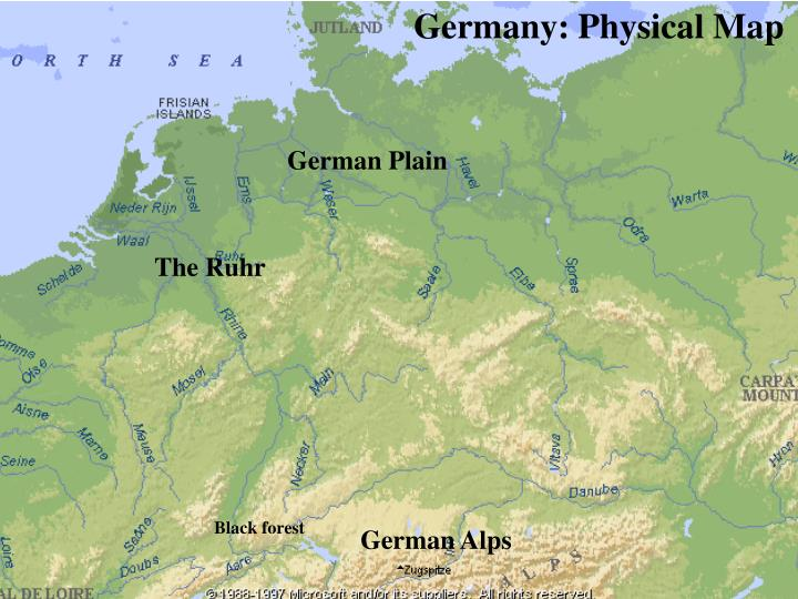 Germany: Physical Map