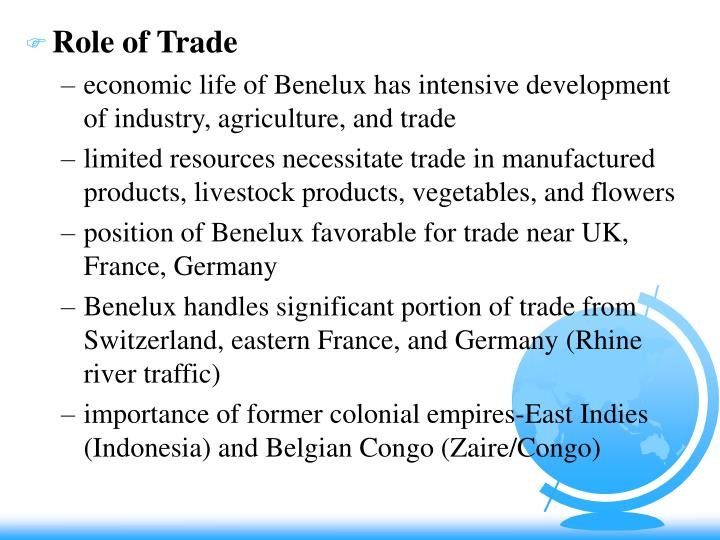 Role of Trade
