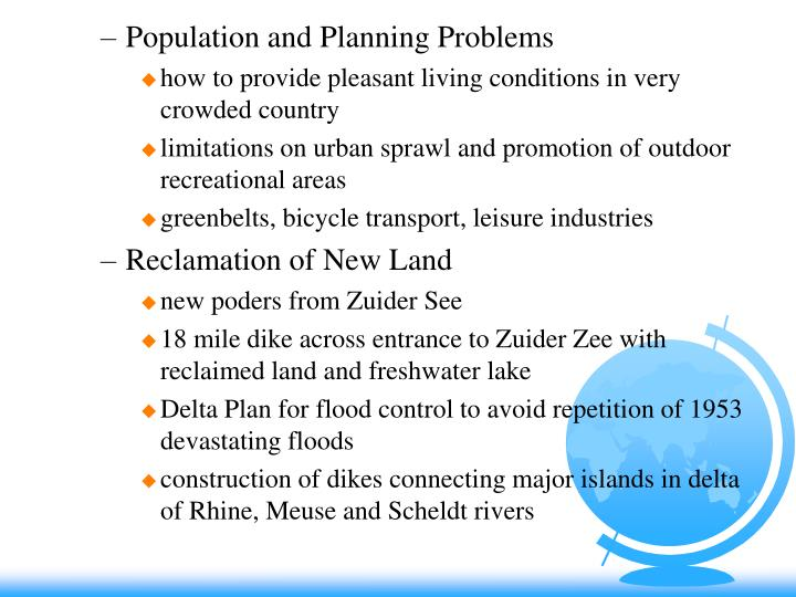 Population and Planning Problems