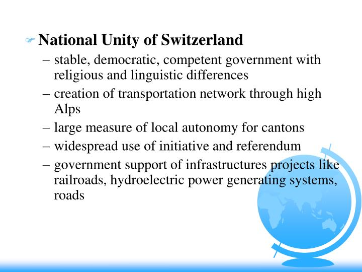 National Unity of Switzerland