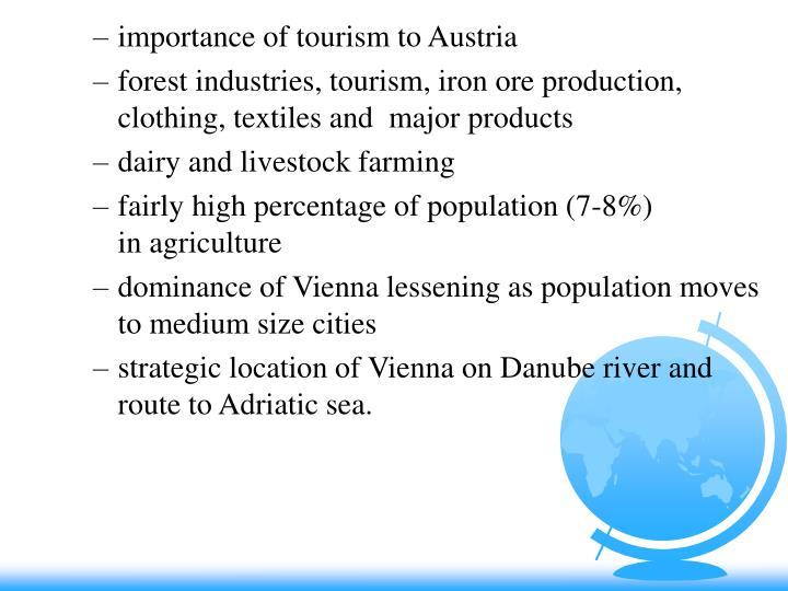 importance of tourism to Austria
