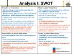 analysis i swot