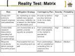 reality test matrix