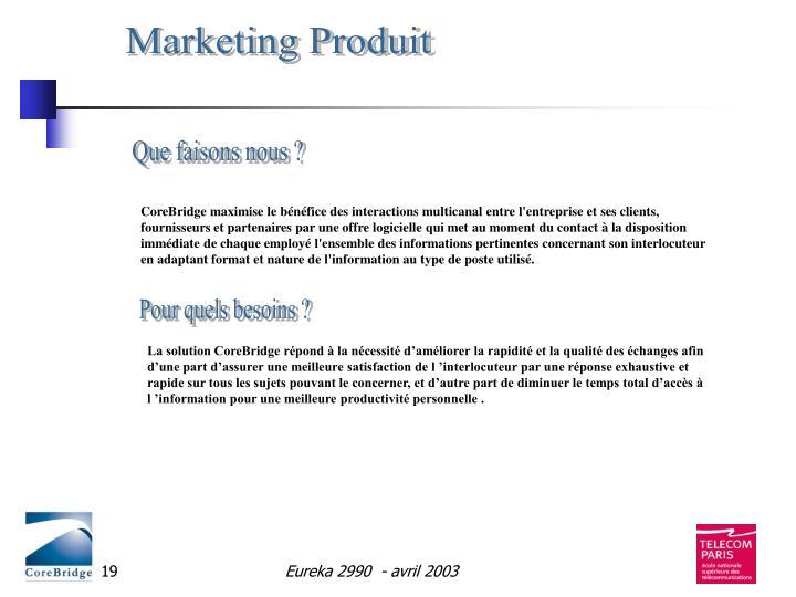 Marketing Produit