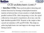 ccd architectures cont 43