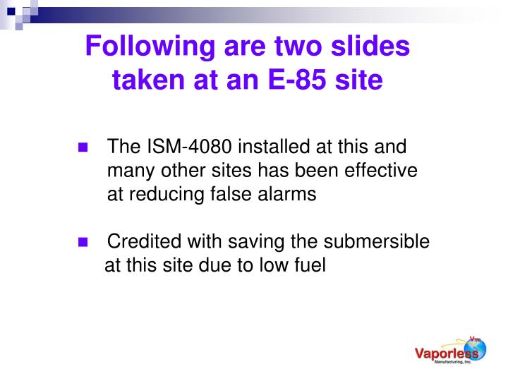 Following are two slides