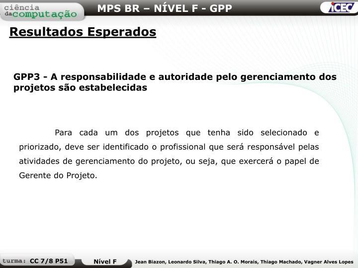 MPS BR – NÍVEL F - GPP