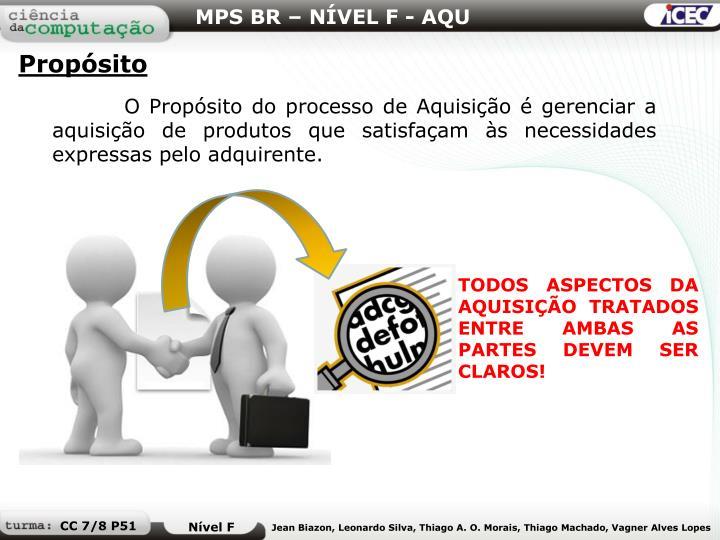 MPS BR – NÍVEL F - AQU