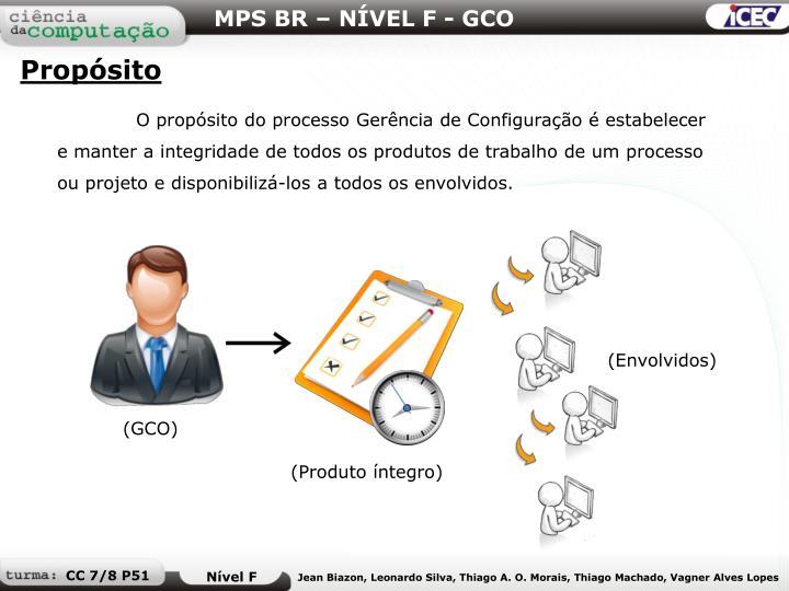 MPS BR – NÍVEL F - GCO