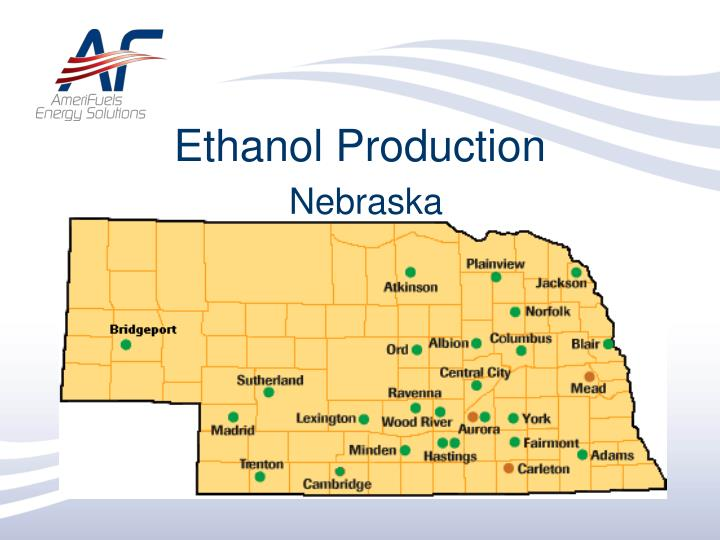 Ethanol production nebraska