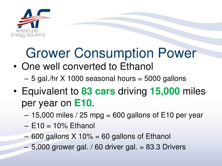 Grower Consumption Power