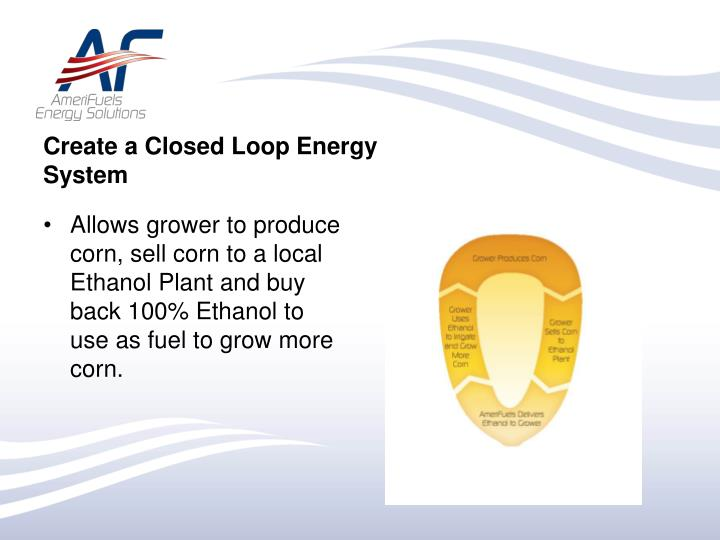 Create a Closed Loop Energy System