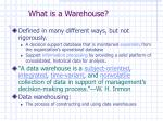 what is a warehouse2