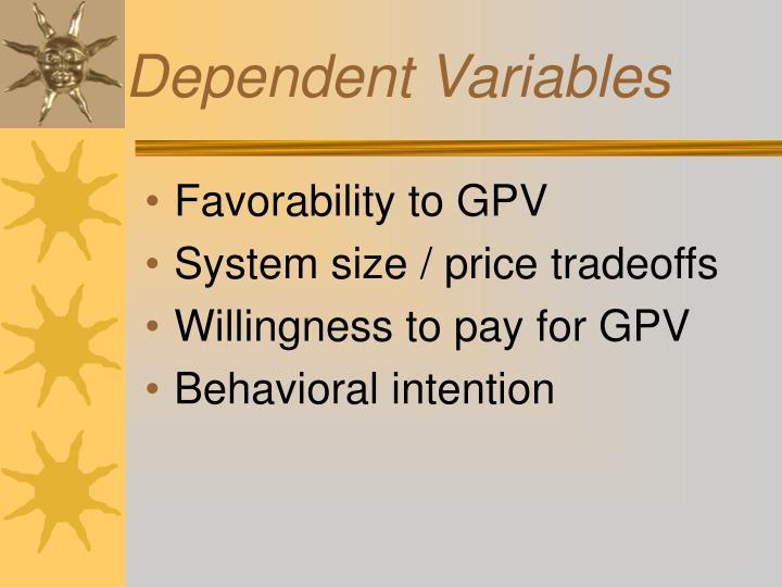 Dependent Variables