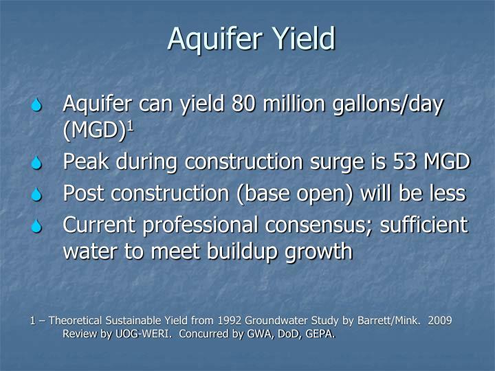 Aquifer Yield