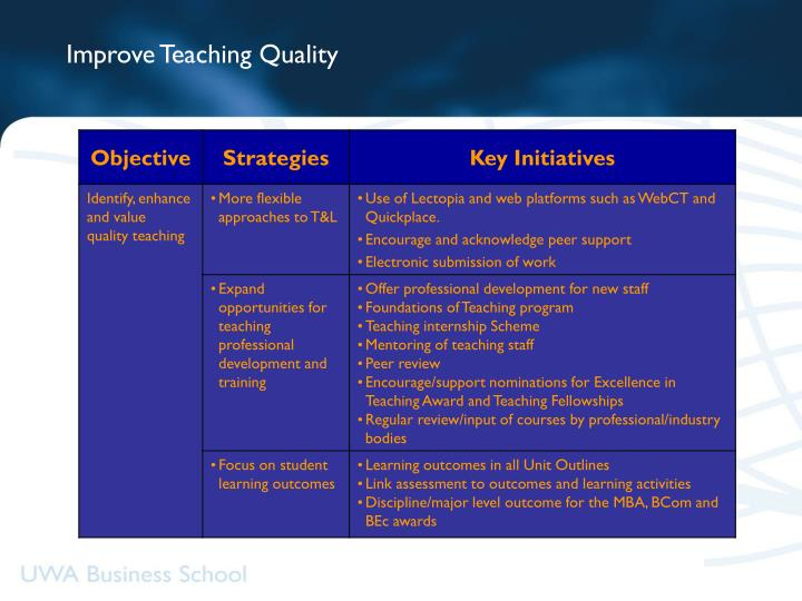 Improve Teaching Quality