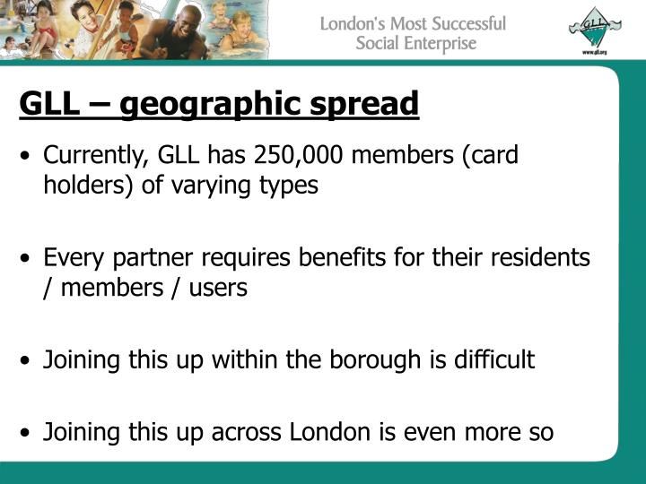 GLL – geographic spread