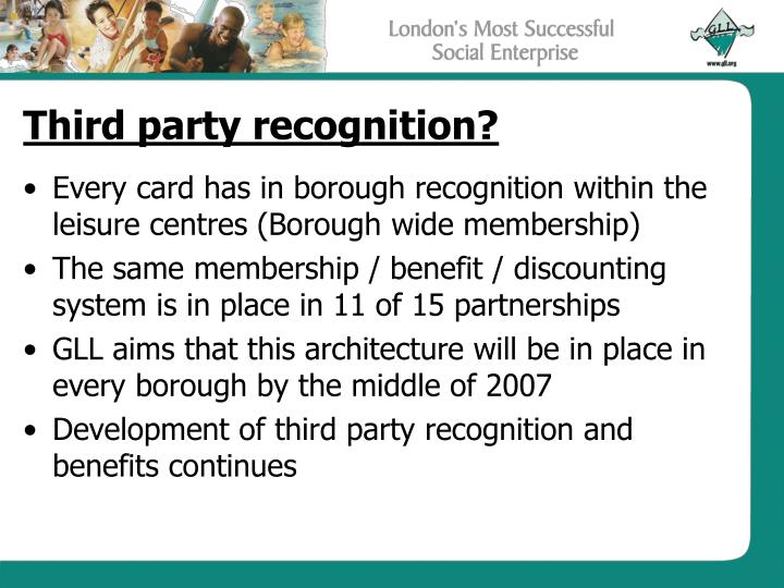 Third party recognition?