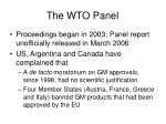 the wto panel