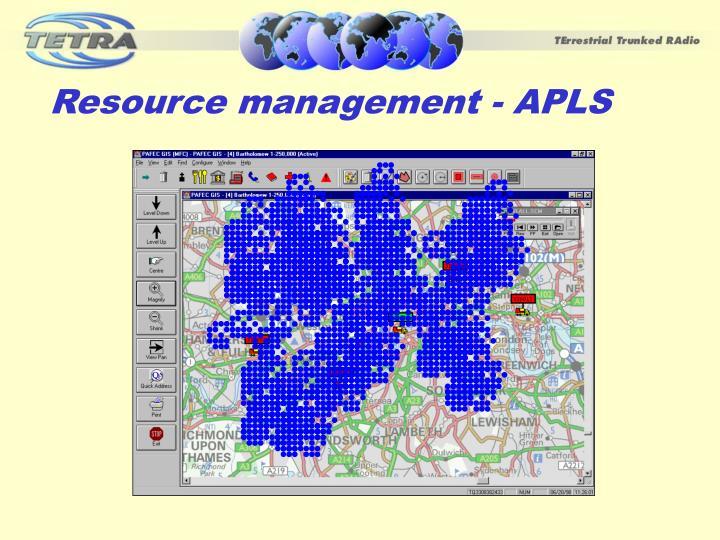 Resource management - APLS