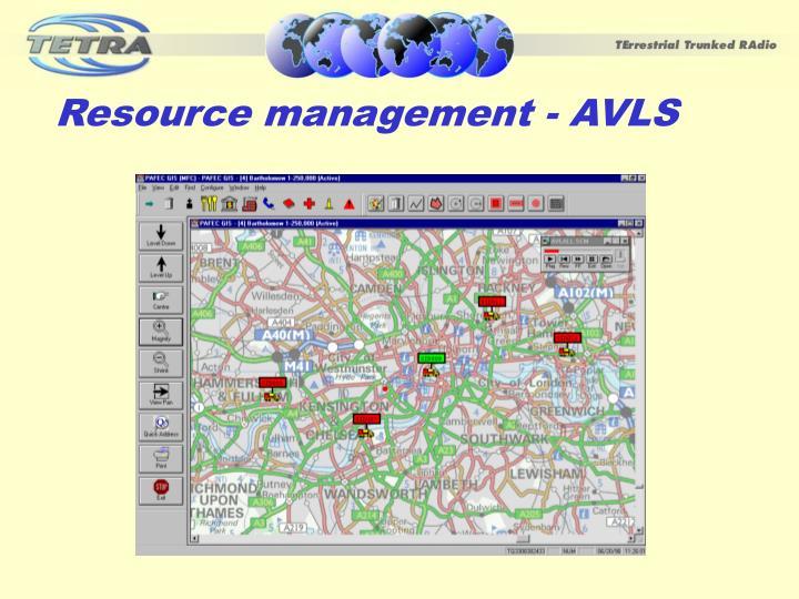 Resource management - AVLS