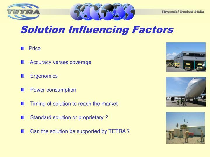 Solution Influencing Factors