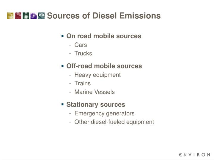 Sources of Diesel Emissions