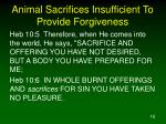 animal sacrifices insufficient to provide forgiveness2
