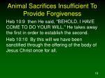 animal sacrifices insufficient to provide forgiveness4