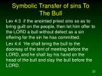 symbolic transfer of sins to the bull
