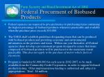 federal procurment of biobased products