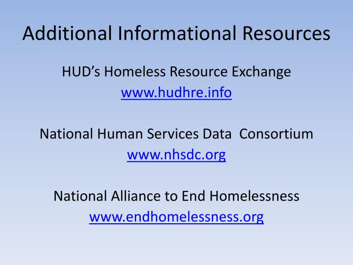 Additional Informational Resources