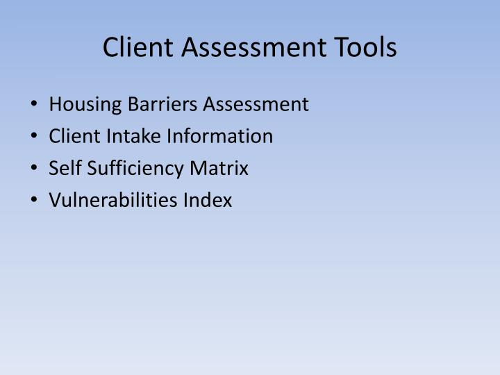 Client Assessment Tools