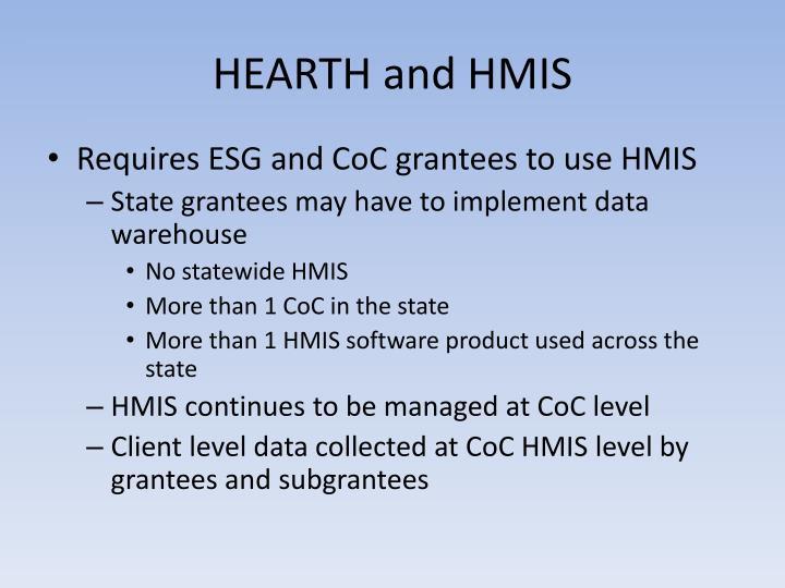HEARTH and HMIS