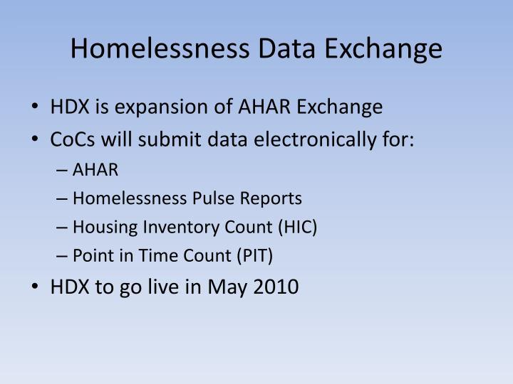Homelessness Data Exchange